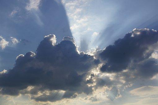 Sky, Clouds, Dark Clouds, Sunbeam, Lichtspiel, Mood