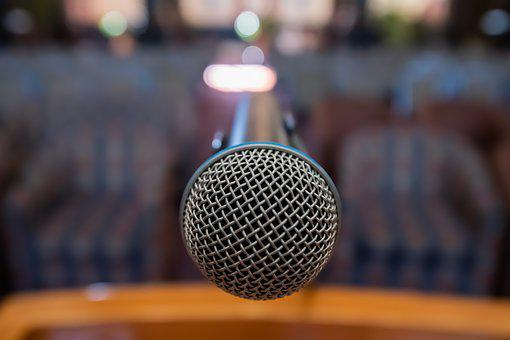 Microphone, Mic, Conference, Venue, Music