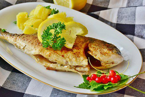 Fish, Sea Bream, Potatoes, Kitchen, Cook, Fried