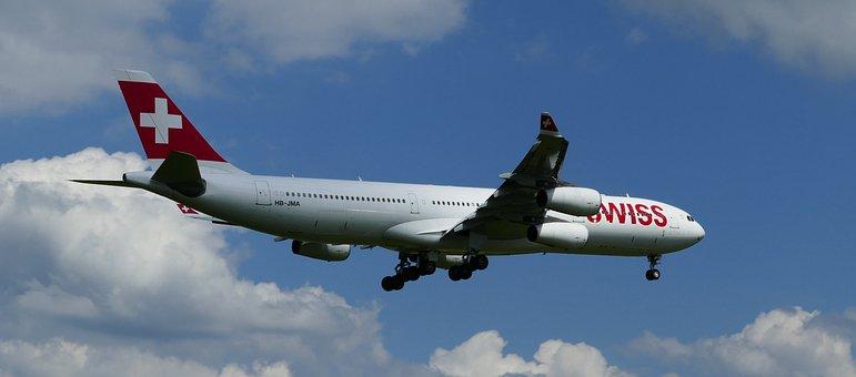 Airport, Zurich, Balls, Aircraft, Swiss, Landing, Flaps