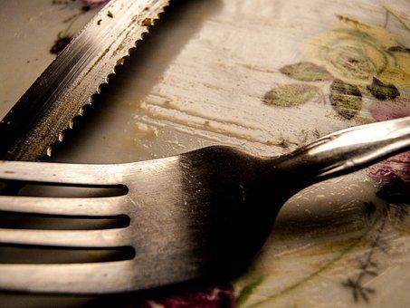 Knife, Fork, Food, Eat, Kitchen, Table, Meal