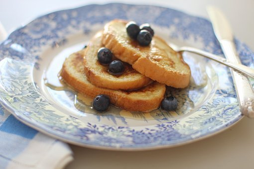 Breakfast, French Toast, Morning, Blueberries, Berries