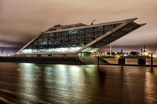 Hamburg, Dockland, Germany, Elbe, Harbor, Port