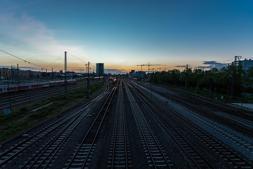 Railway Station, Gleise, Trains, Mannheim