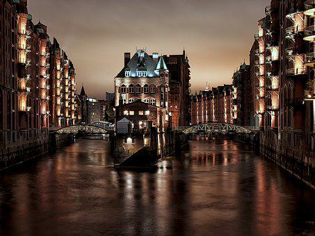 Hamburg, Speicherstadt, Germany, Elbe, Harbor, Port