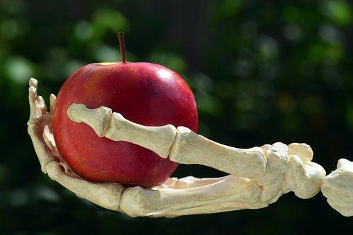 Apple, Hand, Bone, Snow White, Gift, Toxic Apple