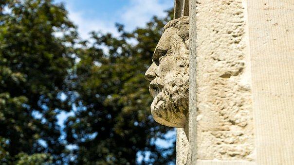 Face, Sculpture, Head, Stone Figure