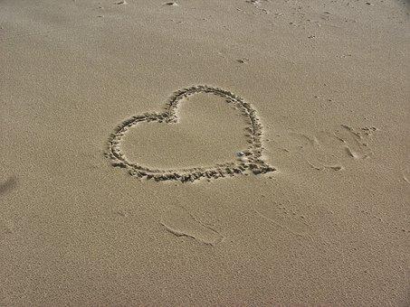 St Peter-ording, Beach, Sand Beach, Heart, Sandherz
