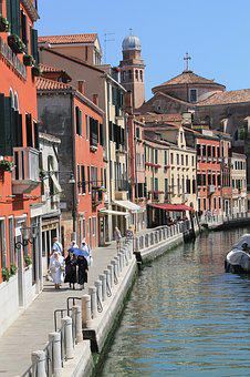 Venice, Homes, Water, Channel, Houses Facades, Old Town