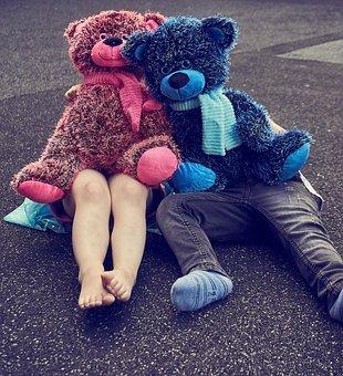 Children, Teddy, Teddy Bear, Play, Fun, Human, Out