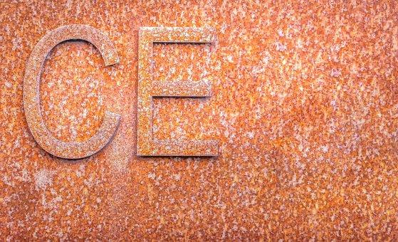 Rust, Rusty, Metal, Marking, Ce, Old, Rusted, Iron