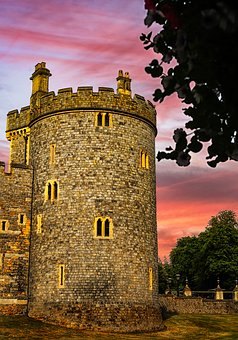 Windsor, Castle, Sunset, Landscape, Tourism, England