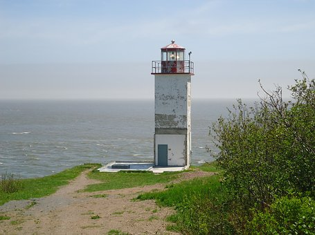 Lighthouse, Bay, Fundy, Canada, Coastal, Landscape