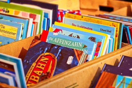 Books, Literature, Read, Worn, Paper, Stack, Close