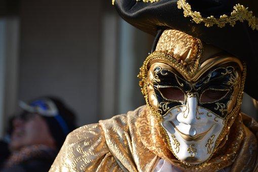 Venice, Carnival, Creativeness, Mask, Disguise, Costume