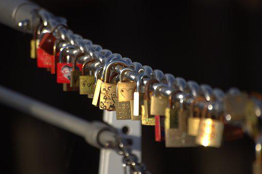 Castle, Bridge, Love Locks, Padlock, Padlocks, Castles