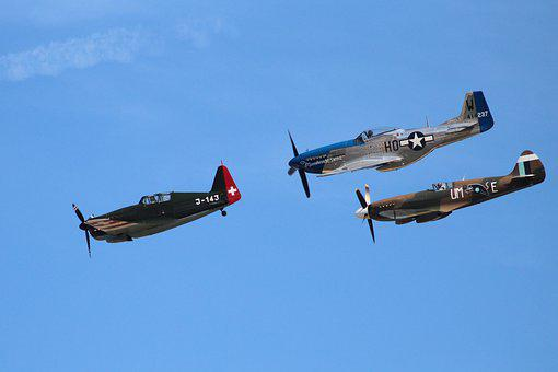 Airshow, Aircraft, Air Show, Flight, Propeller