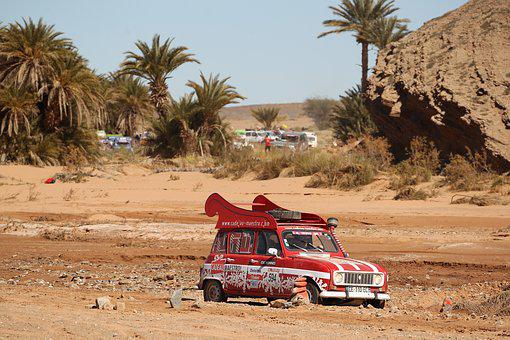 Rally, Rally Off-road, Desert, Sahara, All Terrain, Car