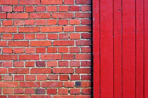 Wall, Bricks, Brick, Brick Wall, Hauswand, Wood, Red