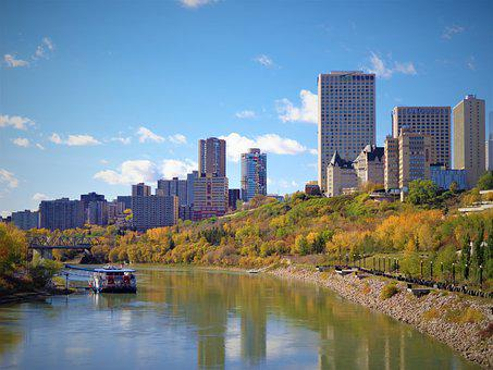 Edmonton, River Valley, Alberta, Canada, River, Valley