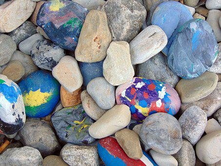 Rock, Stone, Painted