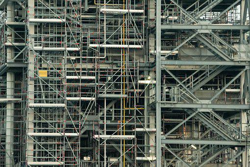 Industry, Scaffolding, Lines
