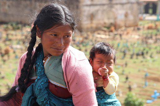 Guatemala, Mother And Child, Sense Of Security, Baby