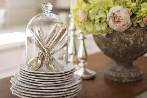 Dishes, Cutlery, Silverware, Vintage, Tableware, Table