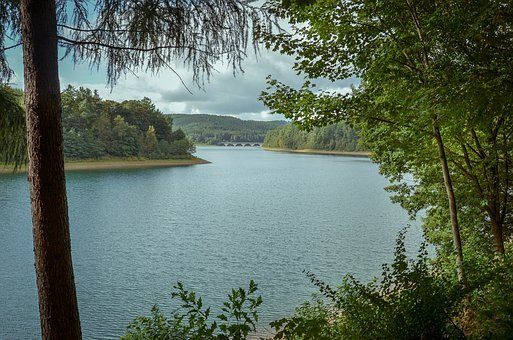 Dam, Reservoir, Lüdenscheid, South Westphalia