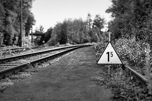 Railroad, Sign, Railway, Train, Warning, Symbol