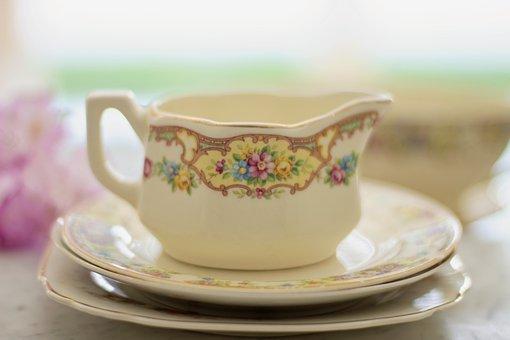 Tea Cup, Coffee Cup, Coffee, Creamer, Drink, Tea, Cup