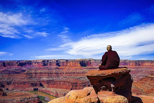 Theravada Buddhism, Meditation, Dead Horse Point, Monk