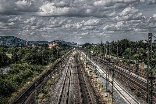 Railway, Railway Line, Seemed, Track, Gleise, Sky
