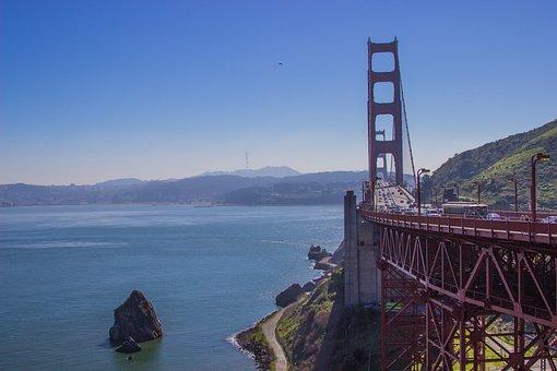 Goldengate, Landscapes, Blue, Famous, Tourism, Travel