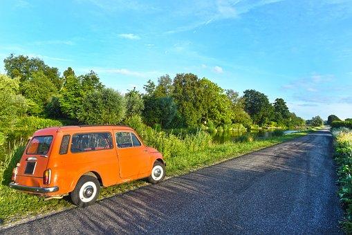 Car, Automobile, Vehicle, Fiat 500 Giardiniera