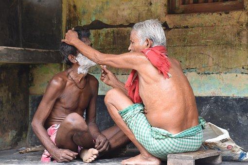 Odisha, India, Barber, Old, Man, Village, Puri