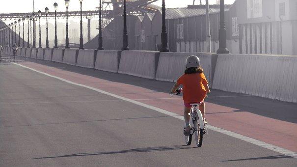Girl, Bike, Walk, Bicycle, Children, Cyclist, Wheels