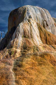 Orange Mound, Yellowstone National Park, Hot Springs