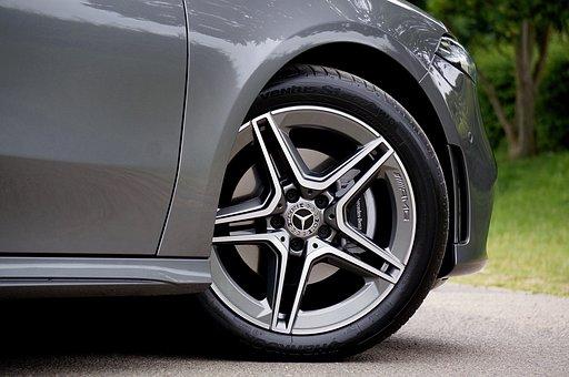Wheel, Alloy, Mercedes, A200, Car, Vehicle, Automotive