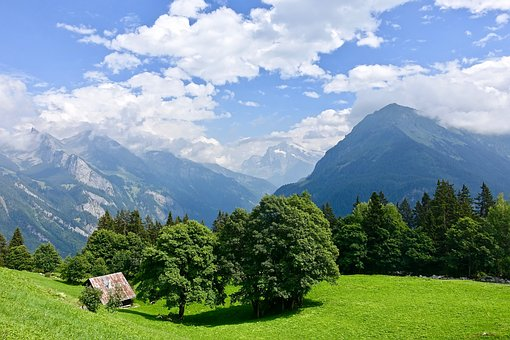 Hut, Alps, Mountains, Switzerland, Nature, Alpine