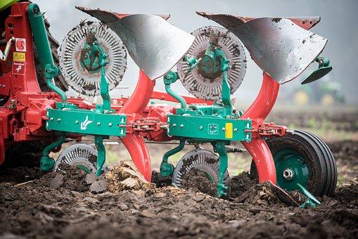 Plough, Rotary Plow, Plowed, Ackerfurchen, Arable