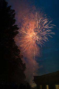 Fireworks, At Night, Pyrotechnics, Explosions