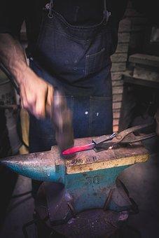 Japan, Blacksmith, Metal, Shop, Background, Vintage