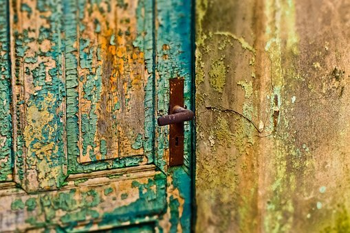 Door, Flake, Old, Weathered, Wood, Input, Boards