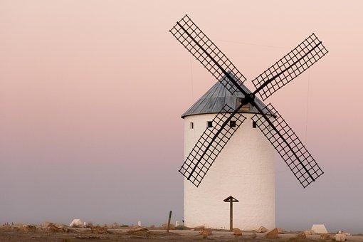 Sunset, Mills, Castilla, Stain, Wind, Breeze, Warm, Old