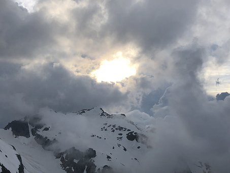 Susten Horn, Mountains, Switzerland, Alpine, Clouds