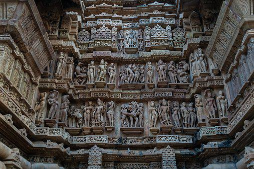 India, Sculpture, Temple, Erotic, Worship, Culture