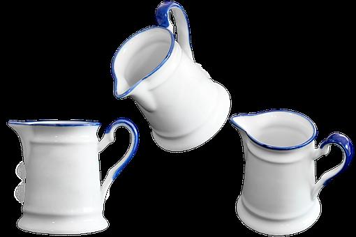Pot, Jug, Porcelain, Isolated, Transparent, Decoration