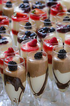 Dessert, Mousse, Sweet, Fruits, Berries, Fruit