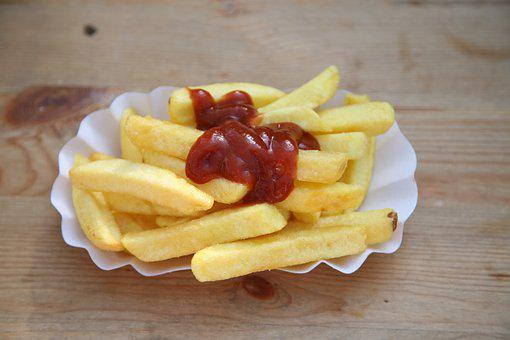 French Fries, Tomato Sauce, Food, Eat, Gourmet, Court